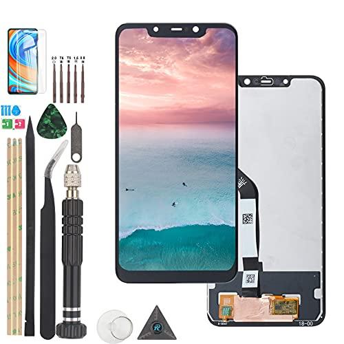 RongZy Ersatz des Displays für Xiaomi Pocophone F1 LCD-Touchscreen-Digitalisierer mit Einer Reihe praktischer Werkzeuge (Schwarz)