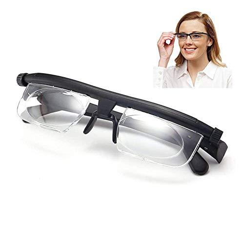 LFchujian Einstellbarer Fokus Lesebrille Vergrößerungsbrille -6D to + 3D Dioptrien Variable Objektivkorrektur Brille Computer Lesen Fahren Brille,korrekturbrille Unisex-brille Zum Distanzlese