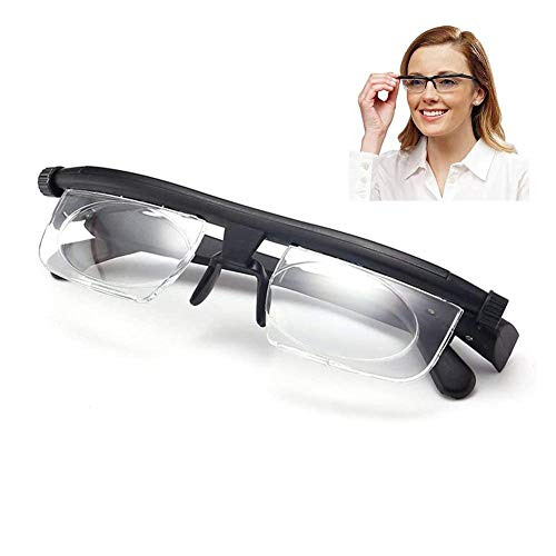 Ajustable len Gafas de Lectura Miopía Anteojos 6D a + 3D Corrección Variable de la Lente de Aumento Binocular,Lentes Unisex
