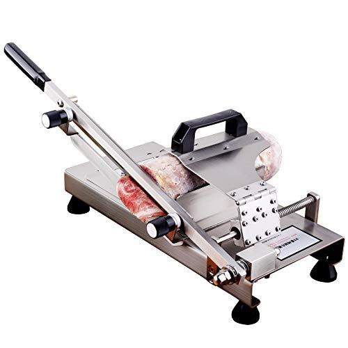 NEWTRY Fleischschneider, manueller Schneider, Edelstahl, Großformat, Fleisch-Hobelmaschine ST300 für gefrorenes Rind, Mutton und Gemüse, Klingenlänge: 300 mm