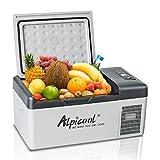 ASDFGHJKL Refrigerador Congelador 15 litros, Mini Refrigerador Refrigerador de Bebidas Eléctrico para Interiores, Exteriores, Uso en Viajes, para Auto, Campamento, Oficina
