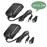 AC Adapter, YIFENG 12V/2A AC DC Switching Power Supply Adapter