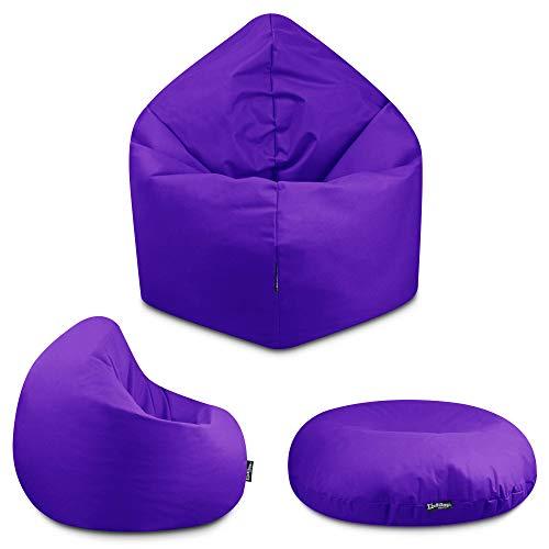2in1 Sitzsack Bodenkissen Outdoor Sitzsäcke Indoor Beanbag in 32 Farben & 3 Größen wählbar Sitzkissen Kinder Yoga Kissen Erwachsene Schule Kindergarten (Lila-100 cm)