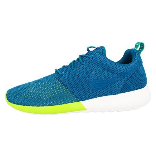 Nike Rosherun Men's Sneakers Military Blue/Turbo Green/Summit White 511881-400 (Size: 10.5)