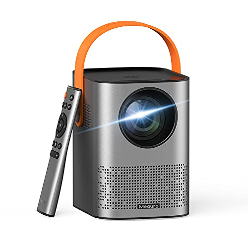 Meauro Projector,WiFi Mini Projector 1080P FHD,[Upgraded Version]Bluetooth Portable Projector,Built-in 2 Speakers,App included,Auto Keystone Correction,80000 Hrs LED Lamp Life for Home Entertainment