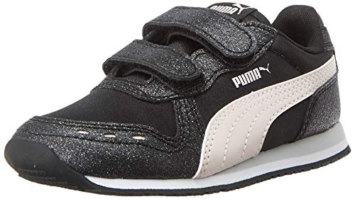 Puma Baby-Mädchen Cabana Racer Glitz V Inf Fußballschuhe, Schwarz Black-Rosewater White, 23 EU