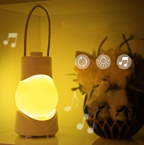 Luz de noche portátil con batería recargable lámpara de mesa inteligente interruptor de temporizador lámpara de noche para dormitorio
