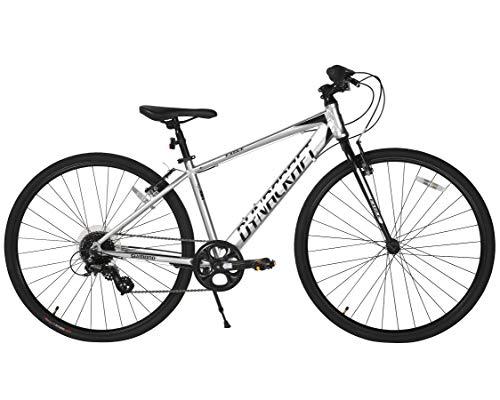 Dynacraft Alpine Eagle 700C 40CM Aluminum Frame Hybrid Bike, Black