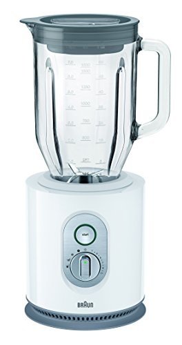 Braun IdentityCollection JB 5160 Standmixer , 1.000 W, 22.500 U/min, ThermoResist Glas-Mixbehälter (1,6 l), weiß