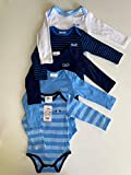 Twins Baby-Jungen Body Langarm, 5er Pack Blau