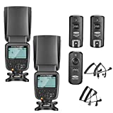 Neewer 2 Packs NW561 LCD-Display Flash Speedlite Kit für Canon Nikon Panasonic Olympus Pentax...