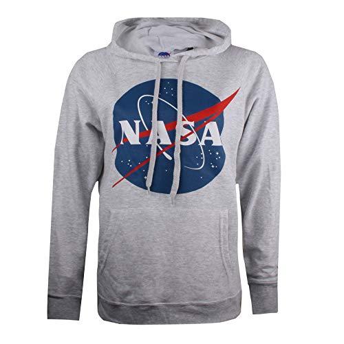 Nasa Circle Logo Sweat-Shirt À Capuche, Gris (Grey Marl SPO), 38 (Taille Fabricant: Small) Femme