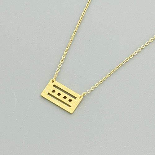 Collar Minimalista Estrellas Huecas Collares y Colgantes Clavícula Cadena Collar Llamativo para Collar Regalo