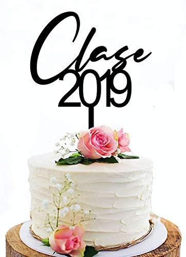 Clase 2019 Cake Topper - Unique Black Acrylic Cake Topper For Graduation Ceremony Party Supplies Decoration -  KISKISTONITE, US1366-JZHQ6859H
