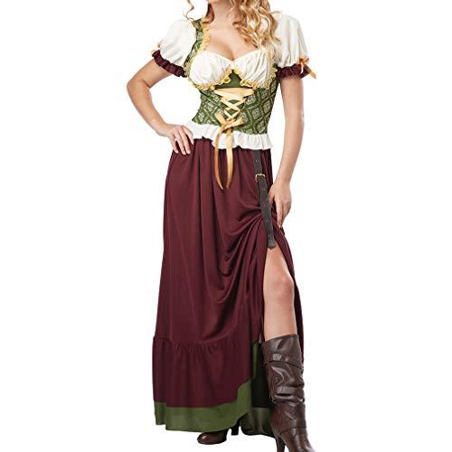 Generise Adulto Mujer BVaro Oktoberfest Cerveza Mucama Grande Lujoso Vestido Disfraz, ClSico Alemn Falda Acampanada Hembra Lujoso Vestido