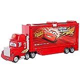 Cars Mack Camión parlanchín de transporte de coches de juguete con luces y sonidos, regalo para niños +3 años (Mattel GYG02)