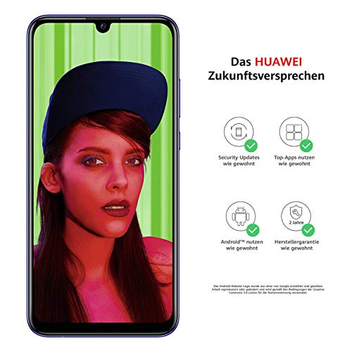 Huawei P smart+ 2019 Dual-Sim Smartphone BUNDLE (Display 15,77cm (6,21 Zoll), 64GB Speicher, 3GB RAM, Android 9.0) Starlight Blue + gratis 16 GB Speicherkarte [Exklusiv bei Amazon]