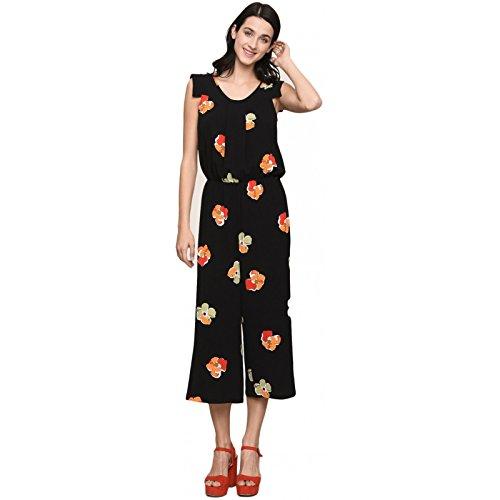 Armani Exchange AX Damen Tropical Jumpsuit, Große Kupferblumen B, 34