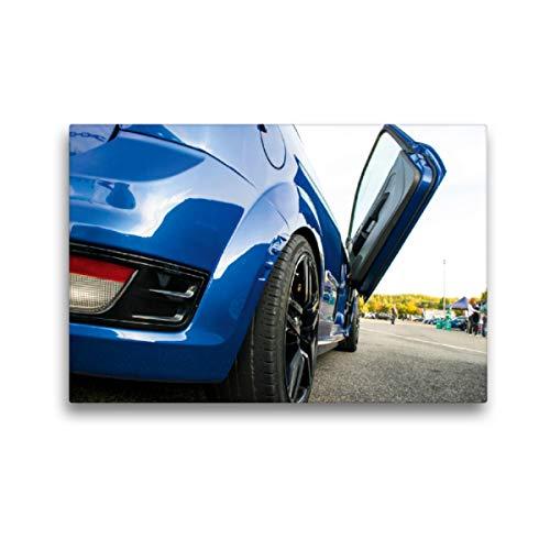 CALVENDO Premium Textil-Leinwand 45 x 30 cm Quer-Format Ford Focus Flügeltür, Leinwanddruck von Karin Sigwarth