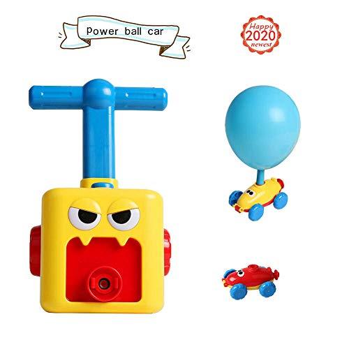 SUT Ballonbetriebenes Auto, Wissenschaftliches Experimentelles Spielzeug-Trägheitsspielzeug Für Kinder, Geeignet Für Kindergeschenke,Yellow