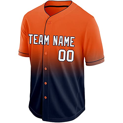 Custom Gradient Baseball Jersey Personalized Stitched &Printed Baseball Shirts for Men/Women/Youth