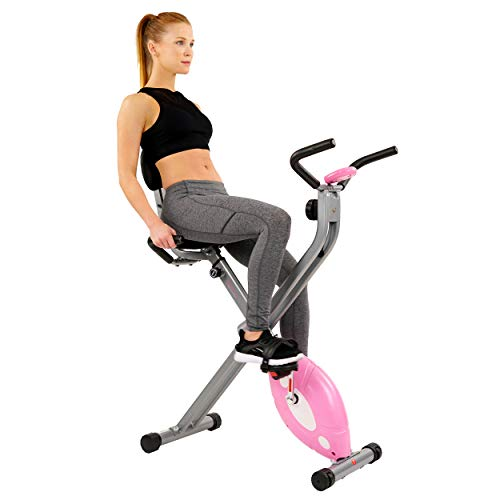 Sunny Health & Fitness Magnetic Folding Recumbent...