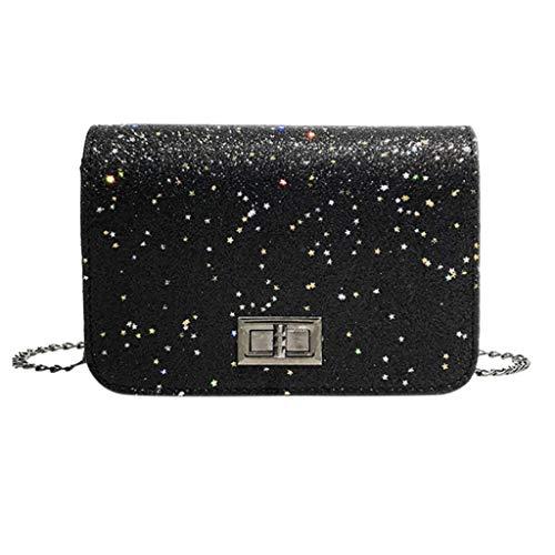 squarex  Fashion Damen Outdoor Einfarbig Leder Pailletten Umhängetasche Umhängetasche Multifunktionstasche Reisetasche Handtasche Umhängetasche