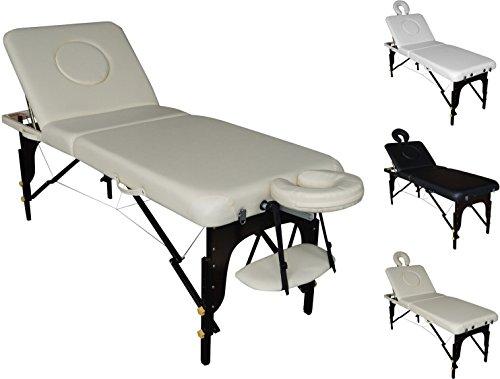 POLIRONESHOP ZAR Massageliege massagebank massagetisch tattooliege sehr robust (beige)