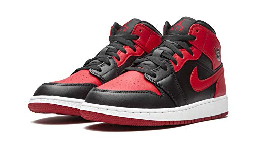 Nike Air Jordan 1 Mid (GS), Zapatillas de bsquetbol, Black Gym Red White, 36.5 EU