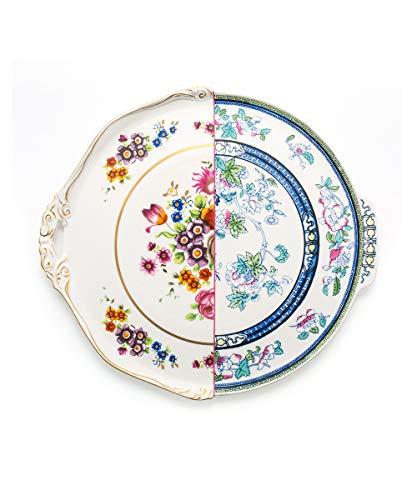 Plateau en porcelaine ronde \