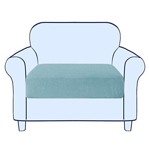 subrtex Sofa Sitzkissenbezug Stretch Sitzkissenschutz Elastischer Kissenbezüge Husse Überzug Bezug für Sofa Sitzkissen (1 Sitzer, Hellblau)