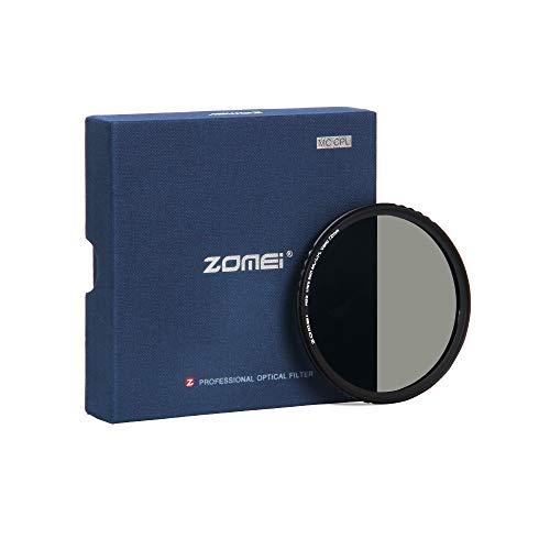 ZOMEi CPL Zirkular-Polfilter Polarisationsfilter Optisches Glas & Aluminium Für Canon Sony Nikon Fujifilm Pentax Tamron Sigma Leica Olympus Panasonic (72mm)