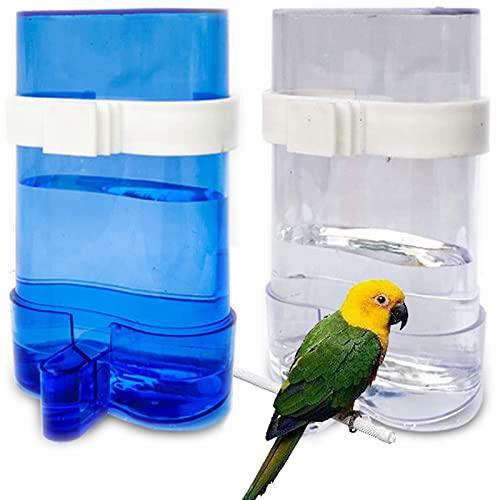 Vögel Automatischer Wasserspender Papageien Futterspender Papageien Wasserspender Tränke und Futterspender Papageien Futterautomat Futternapf für Vögel Wellensittiche Nymphensittiche Papageien