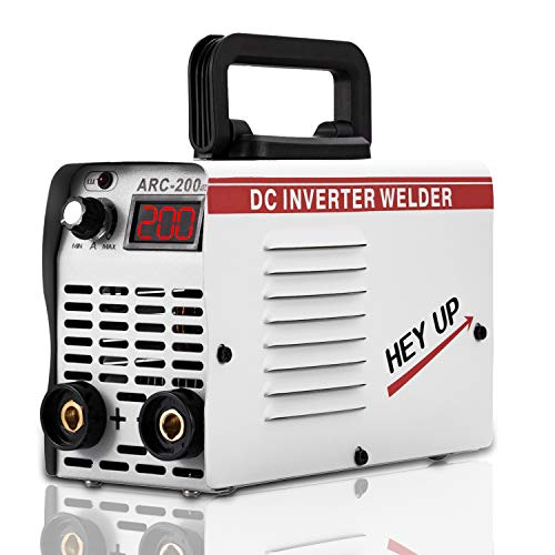 Welder Arc Welder 110V 220V Dual Voltage 120Amp MMA Stick Welding Machine IGBT Inverter Portable Lightweight DC Welder LCD Display for Beginner with Electrode Holder Clamps Welder
