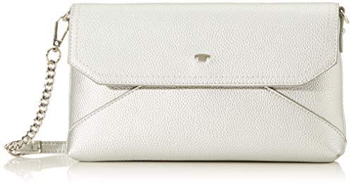TOM TAILOR Umhängetasche Damen Vittoria, (Silber), 28x16x3.5 cm, TOM TAILOR Handtaschen, Taschen für Damen