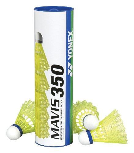 YONEX Mavis 350 Kunststoff-Federbälle (gelb, 3 Röhren)