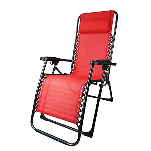 YX-ZD Silla Plegable para Exterior Zero Gravity Lounge, Sillón Reclinable para Patio, Tumbona para Jardín, Tumbona Reclinable para Oficina, Sillón Reclinable, con Reposacabezas Acolchado Extraíble