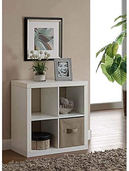 Better Homes And Gardens Wood Storage Square Organizer 4 Cube Bookshelf In White Set Of 2