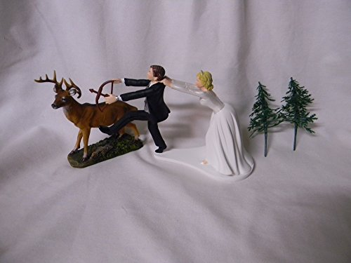Wedding Reception Party Deer Bow Arrow Hunter Hunting Cake Topper