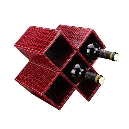 DYB Soporte para botellero, Soporte para Botella de Vino para 5 Botellas Soporte para Vino de Mesa para decoración del hogar Gran Regalo (tamaño; 28 * 20 * 28 cm) (Color: # 2)