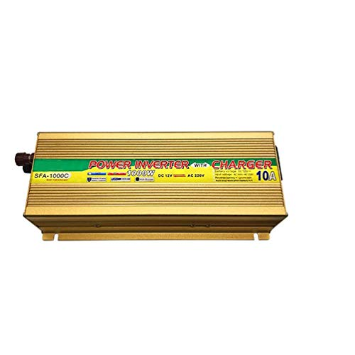 ZHANGJA Power Inverter Ups 12V 24V Modified Wave Inverter With 10A Charger 1000W Converter DC12V To AC220V Solar Car Voltage Transformer