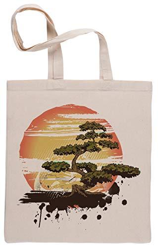 Capzy Bonsai Baum Karate Dojo Einkaufstasche Beige Shopping Bag Beige