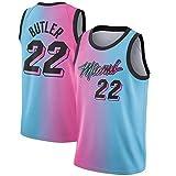 WSWZ Camiseta NBA De Baloncesto para Hombre - Heat 22# Camisetas De La NBA Jimmy Butler - Unisex Cómodo Camiseta Sin Mangas Deportiva De Baloncesto,L(175~180CM/75~85KG)