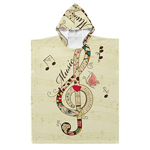 LUPINZ Bademantel mit Musik, für Kinder, Jungen und Mädchen, mit Kapuze, Fleece, Polyester, 1, 27.55x27.55in