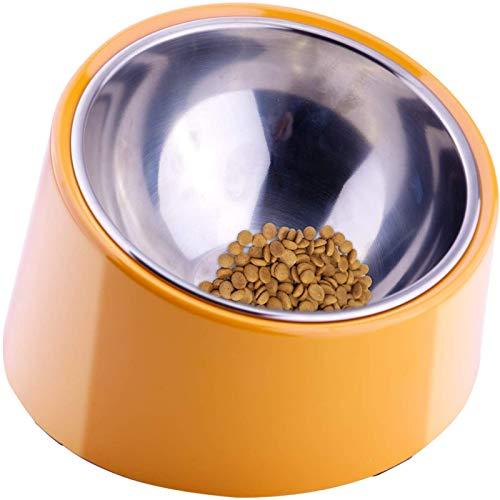 BJHSYNDR Tazón para perros y gatos, cuenco inclinable para mascotas, gatos y perros, de acero inoxidable, para gatos, cuencos para perros, vajilla, arroces.