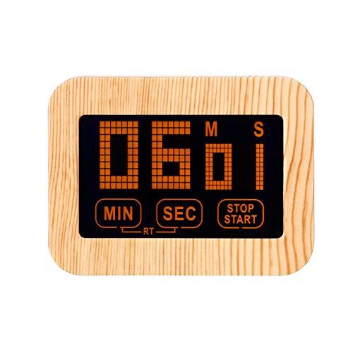 Xyxiaolun Zeitschaltuhr, Batteriebetriebene Wecker Große LCD-Bildschirm Touch-Screen-Digital-Timer Count Up Countdown Für Kinder Lehrer Kochen