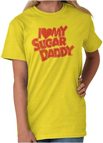 I Love My Sugar Daddy Classic Candy Crewneck Tees T Shirt Women product image