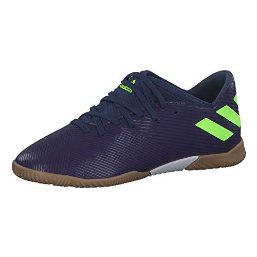 adidas Unisex Nemeziz Messi 19.3 In J Kinder Fußballschuhe, Lila Tech Indigo Signal Green Glory Purple, 36 2/3 EU