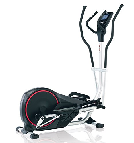 Kettler Unix EX Black – Cross-Trainer (150 kg, Drive Disk/Ribbed Belt, Black, 22 kg, Chest Belt, Hand Grip Sensors)