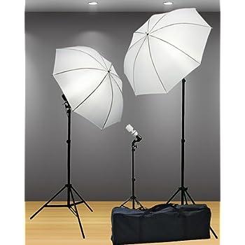 Fancierstudio Lighting Kit 3 Point Light Kit Fluorescent Lighting Kit Umbrella Kit